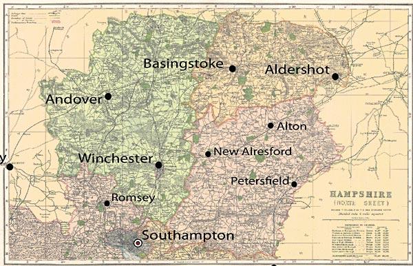 map of north hampshire Hampshire North 1900 Cassini Maps Shopping Cart map of north hampshire